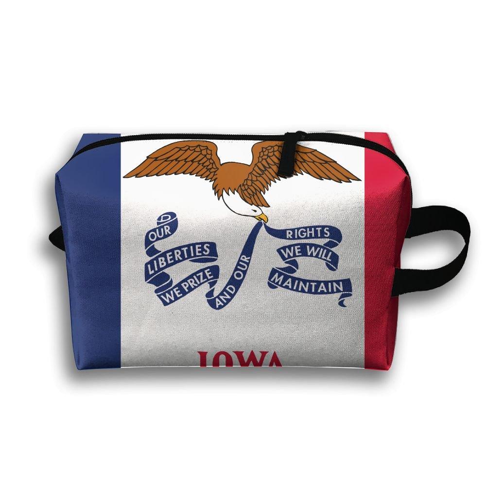 フラッグ オブ アイオワ 旅行用洗面用具バッグ 超軽量 トイレタリーオーガナイザー 夜間の旅行用バッグ B07BKRWKDJ