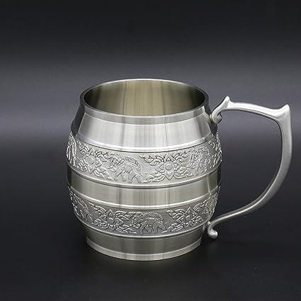 Oriental Pewter – peltre jarra de cerveza (tamaño pequeño) estaño 97% estaño sin