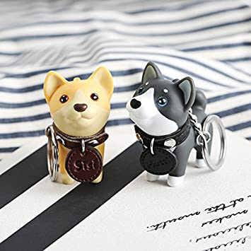 Amazon.com: Lindo perro cachorro de dibujos animados llavero ...