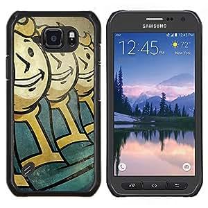 Vault Niños- Metal de aluminio y de plástico duro Caja del teléfono - Negro - Samsung Galaxy S6 active / SM-G890 (NOT S6)
