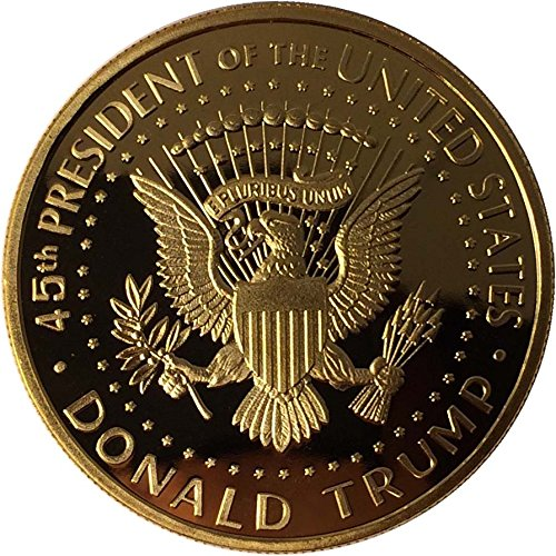 Large Product Image of Donald Trump Gold Coin 2017, Gold Plated Collectable Coin, 45th President, Certificate of Authenticity Official GOPBOX