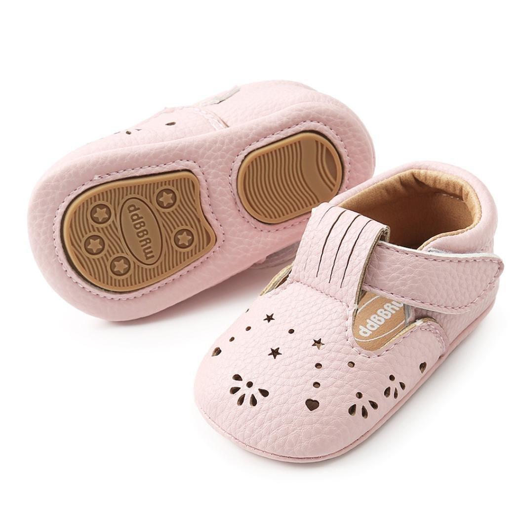 Zapatos Bebé prewalker verano ❤ Amlaiworld Sandalias Recién Nacidas Bebé Niña Suaves Prewalker Zapatos de cuna Zapatos de Princesa de cuero niñas ...