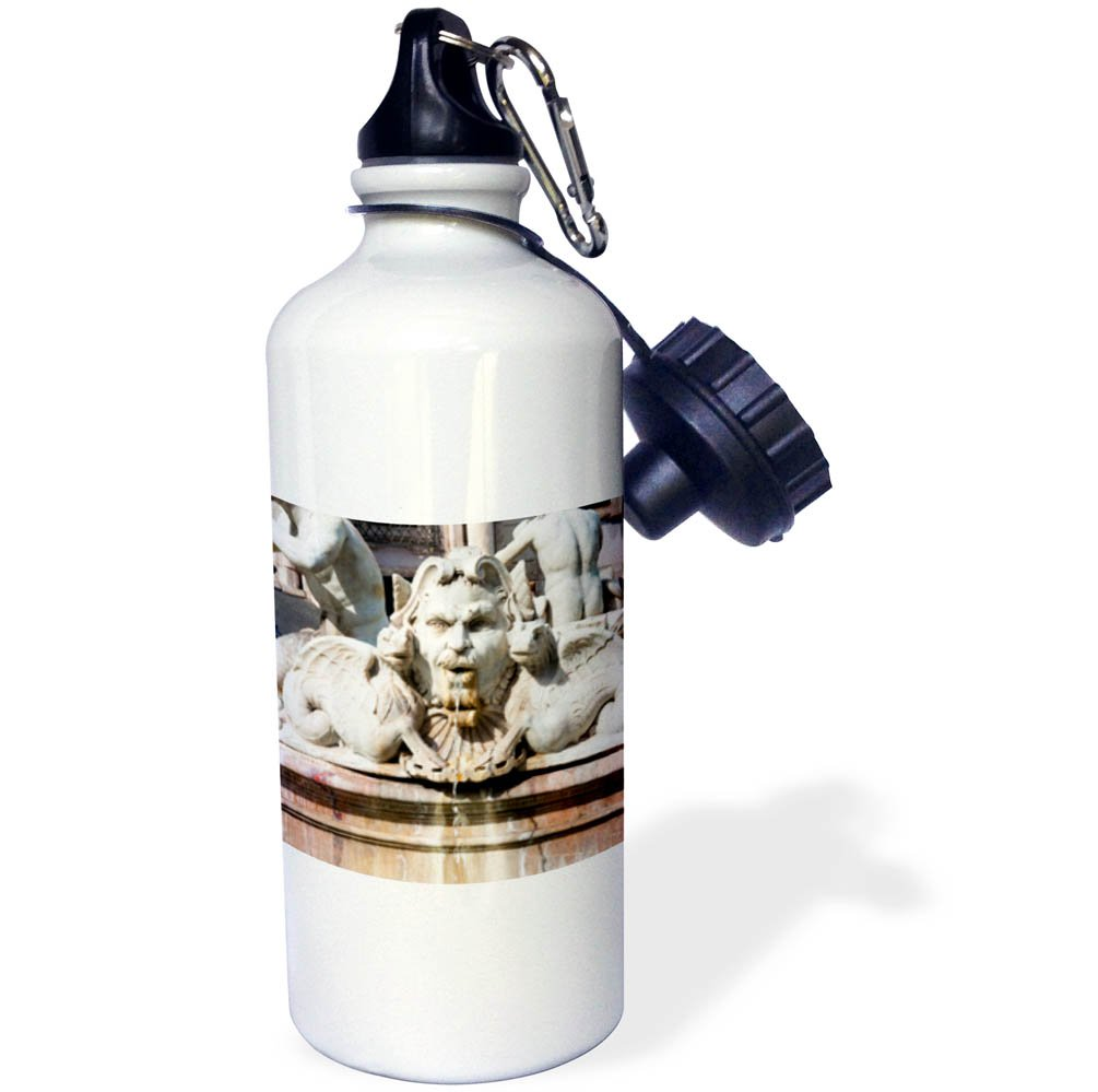 3dRose Danita Delimont - Fountains - The Moor Fountain, Piazza Navona, Rome, Latium, Italy - 21 oz Sports Water Bottle (wb_277631_1)