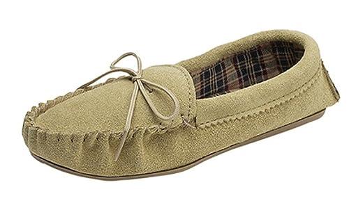 Mokkers - Zapatillas de estar por casa para mujer, color Beige, talla 35.5