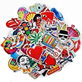 pack of 100pcs Sticker Decals for Laptop,Kids,Cars,Motorcycle,Bicycle,Skateboard Luggage Vinyl Sticker Hippie Decals,Waterproof sticker-Random sticker (Assorted 2)