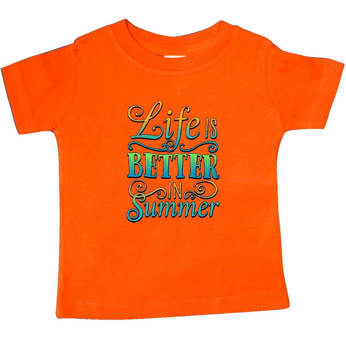 Blue and Green Baby T-Shirt inktastic Life is Better in Summer Vacation