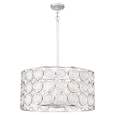 Minka lavery 4667 598 culture chic six light pendant catalina silver finish with