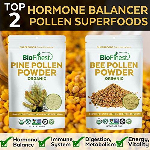 Biofinest 100% Pure Bee Pollen Powder - USDA Organic Vegan Raw Non-GMO -  Boost Metabolism (4 oz) - Beehives.info
