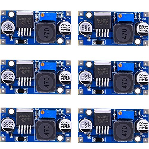 (eBoot 6 Pack LM2596 DC to DC Buck Converter 3.0-40V to 1.5-35V Power Supply Step Down Module)
