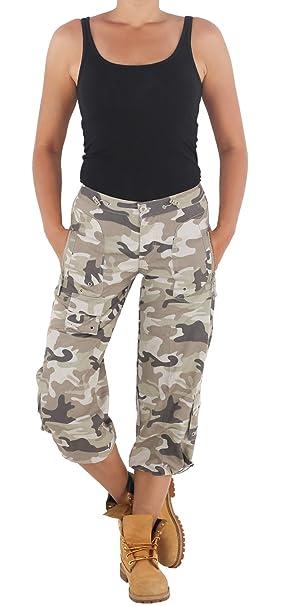 Damen Shorts Kurze Hose Bermudas Capri Kurzehose Camouflage