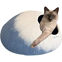 Cheeky Kitty Cat Cave, 100% NZ Merino Wool Felt Cat Bed, Handcrafted in Nepal from Eco Friendly Ethically Sourced Felted…
