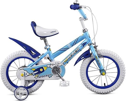 DT Blanco Azul Niños Bicicleta Bebé Bicicleta 2-4-6 Años Niño ...