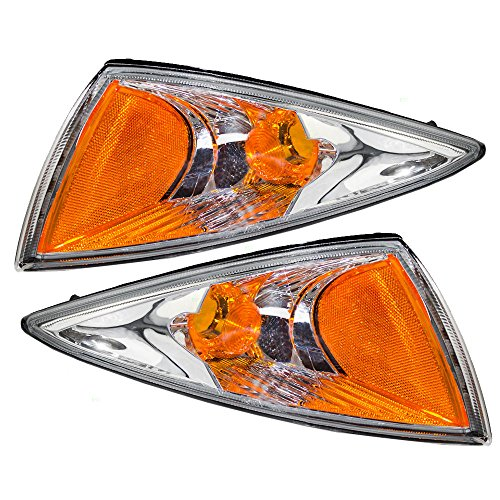 Driver and Passenger Park Signal Side Marker Lights Lamps Replacement for Chevrolet 22667009 22667010 AutoAndArt