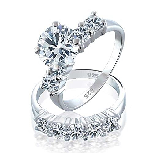 dd6724ec5a88 Image Unavailable. Image not available for. Color  3.5 CT Asscher Cut 4  Prong CZ Engagement Ring ...