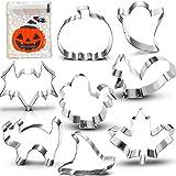 Halloween Thanksgiving Fall Cookie Cutter Set-3 Inches-8 Piece-Pumpkin, Turkey, Maple Leaf, Squirrel, Bat, Ghost, Witch…