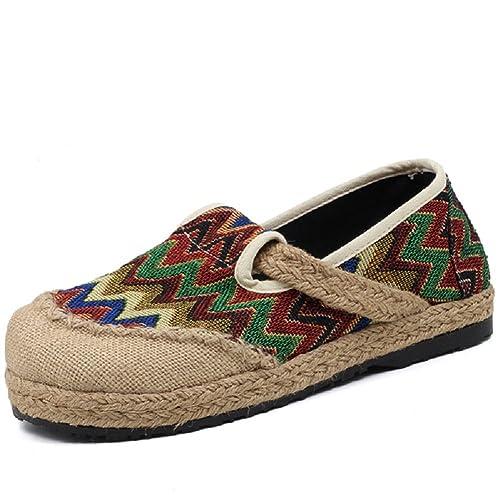 Lazutom - Mocasines de Lona para Mujer, Color Gris, Talla 39 EU: Amazon.es: Zapatos y complementos