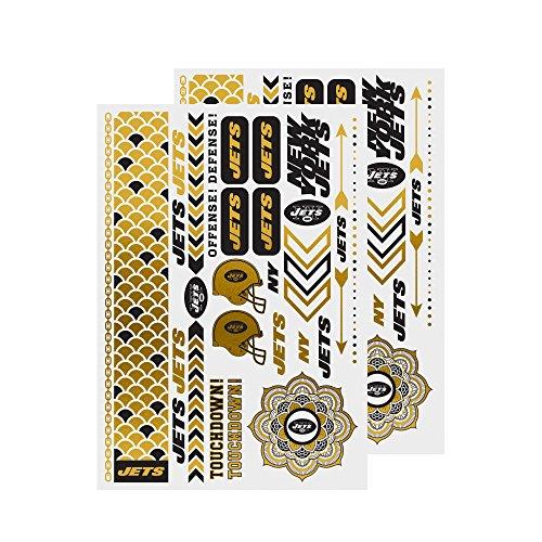 - NFL New York Jets Metallic Body Jewelry Stickers