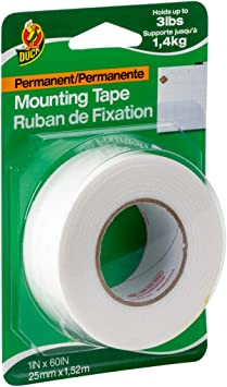 """2 Rolls Scotch Permanent Wall Mounting Tape Foam Double Sided 0.5"""" x 150"""" By 3m"""