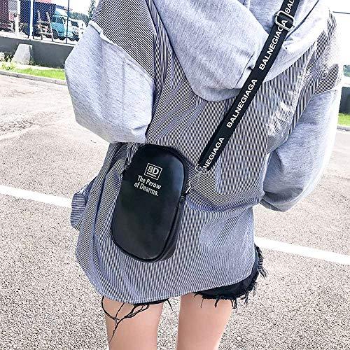Piel estilo preppy Mujer Sintética Negro TD219G de Bags Mounter nxaqAA