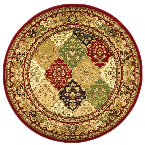 Safavieh Lyndhurst Collection LNH221B Multi Red Round Area Rug, 5 feet 3 inches in Diameter (5'3