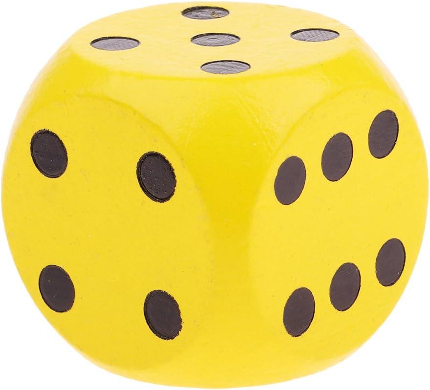P Prettyia 3 Unids Dados de Póker, Madera Dice, Juegos de Dados, 5cm: Amazon.es: Juguetes y juegos
