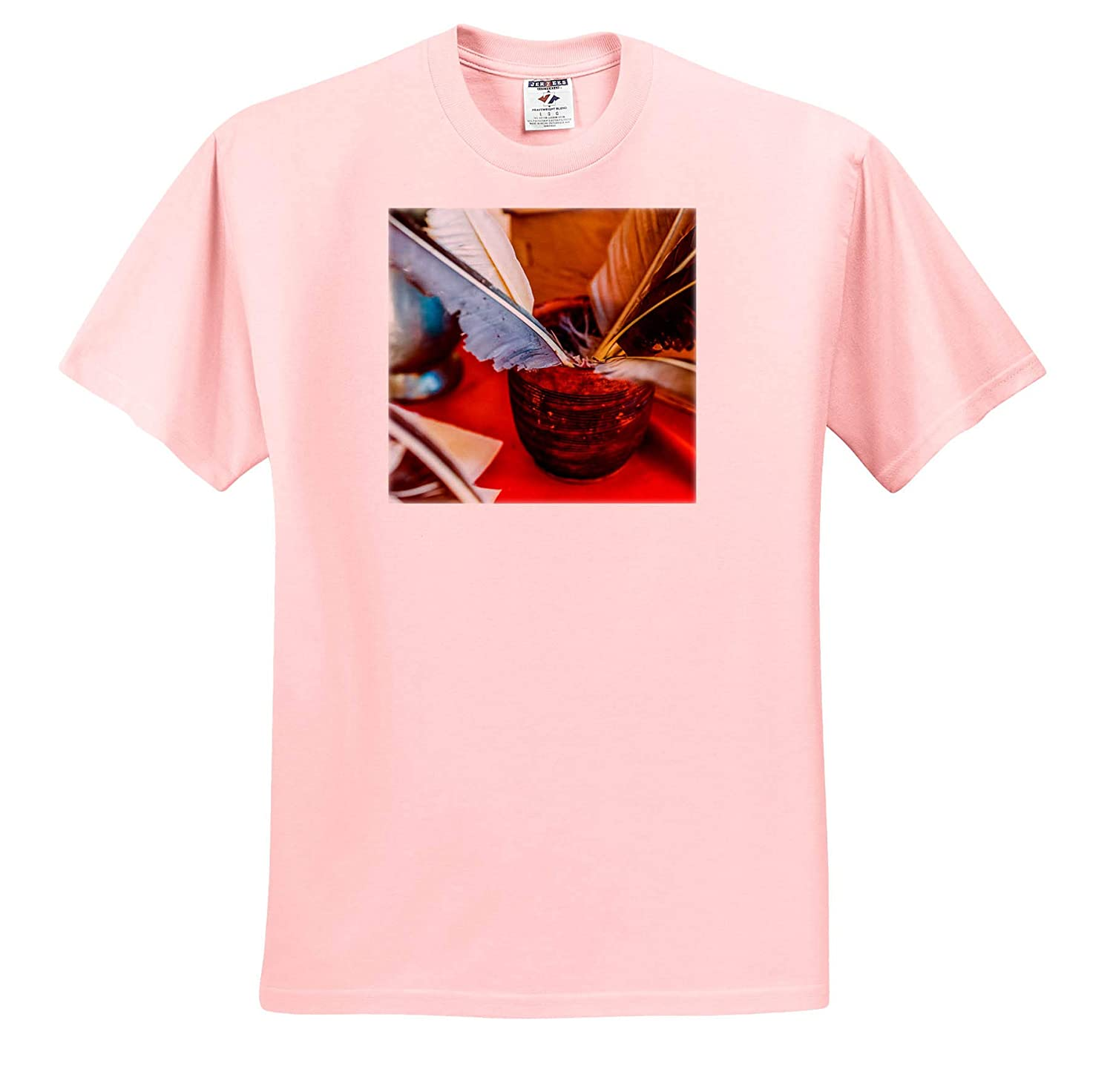 - Ceramic Bowl Filled with quills on a Table Covered with red Cloth 3dRose Alexis Photography T-Shirts Objects Misc