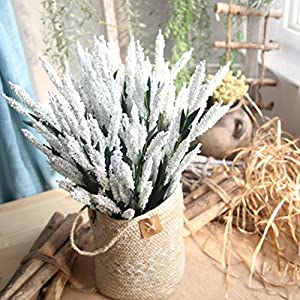 Artificial Flowers,Vibola® 12-Heads Artificial PE Lavender Fake Flower Indoor Outside Home Garden Décor (not include Vase) 57