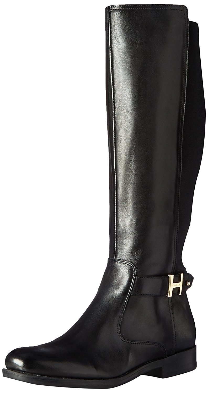 Tommy Hilfiger Women's Suprem Riding Boot, Black, 6 M US