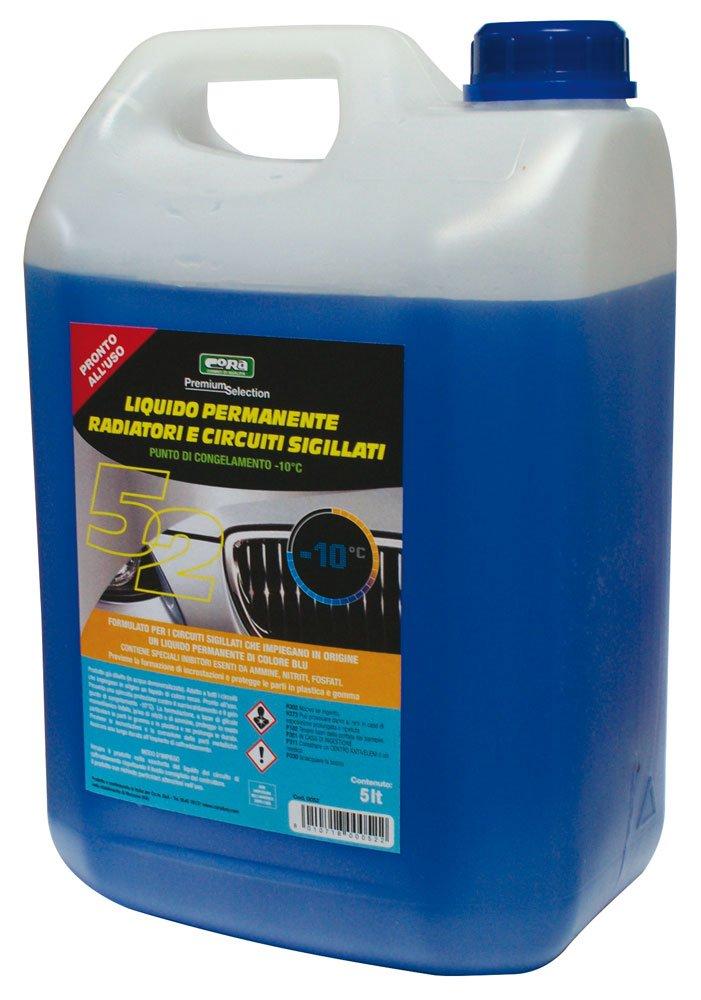 CORA 0052 líquido Permanente Radiador y circuitos sigillati-10 °C, Azul, 5L: Amazon.es: Coche y moto