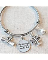 LAWYER Gift, Scales of Justice Bracelet, SHE BELIEVED She Could So She Did Law School Graduate Gift, Paralegal Gift, Legal Assistant Jewelry