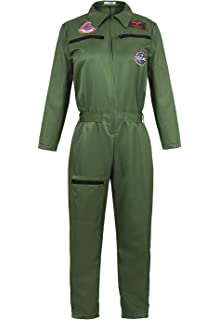 US NAVY TOP GUN Unisex Kids OVERALL JUMPER FLIGHT SUIT Uniform or Costume New