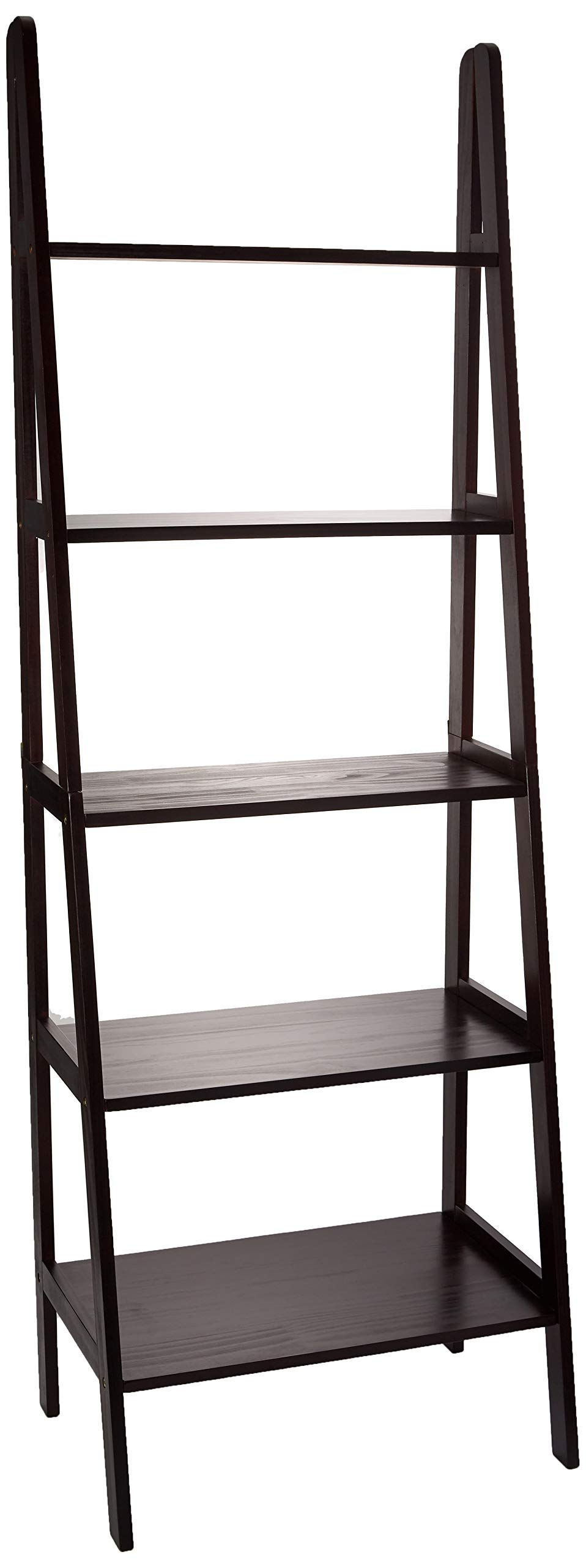 Casual Home 176-53 5-Shelf Ladder Bookcase, Espresso by Casual Home