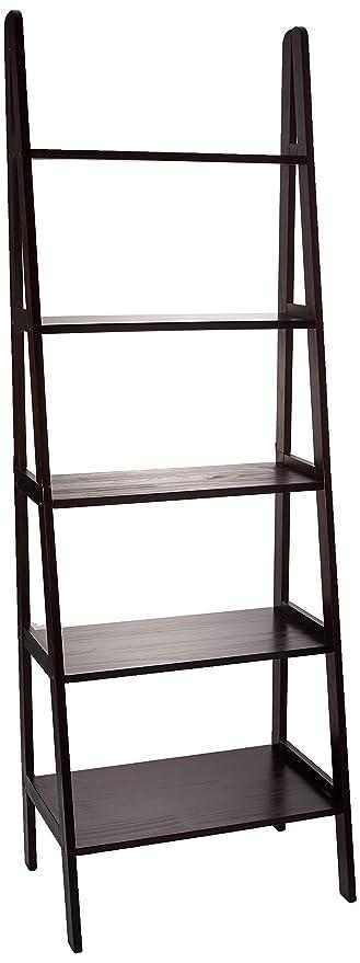 differently bc876 66e84 Casual Home 176-53 5-Shelf Ladder Bookcase, Espresso