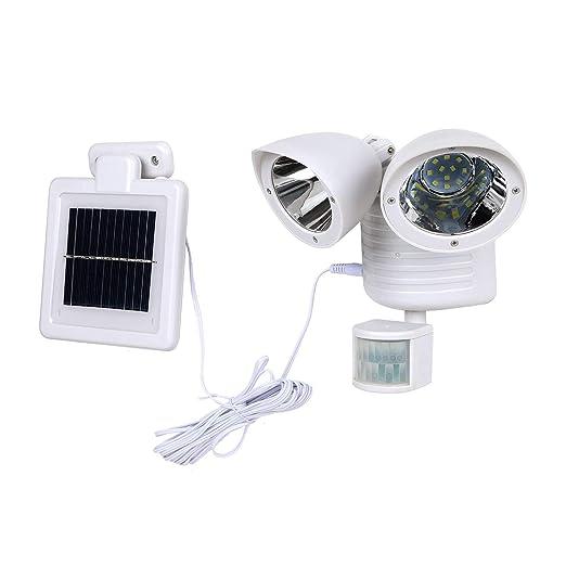 Mlite Proyector LED de Sensor de Movimiento, proyector Solar de 22 ...
