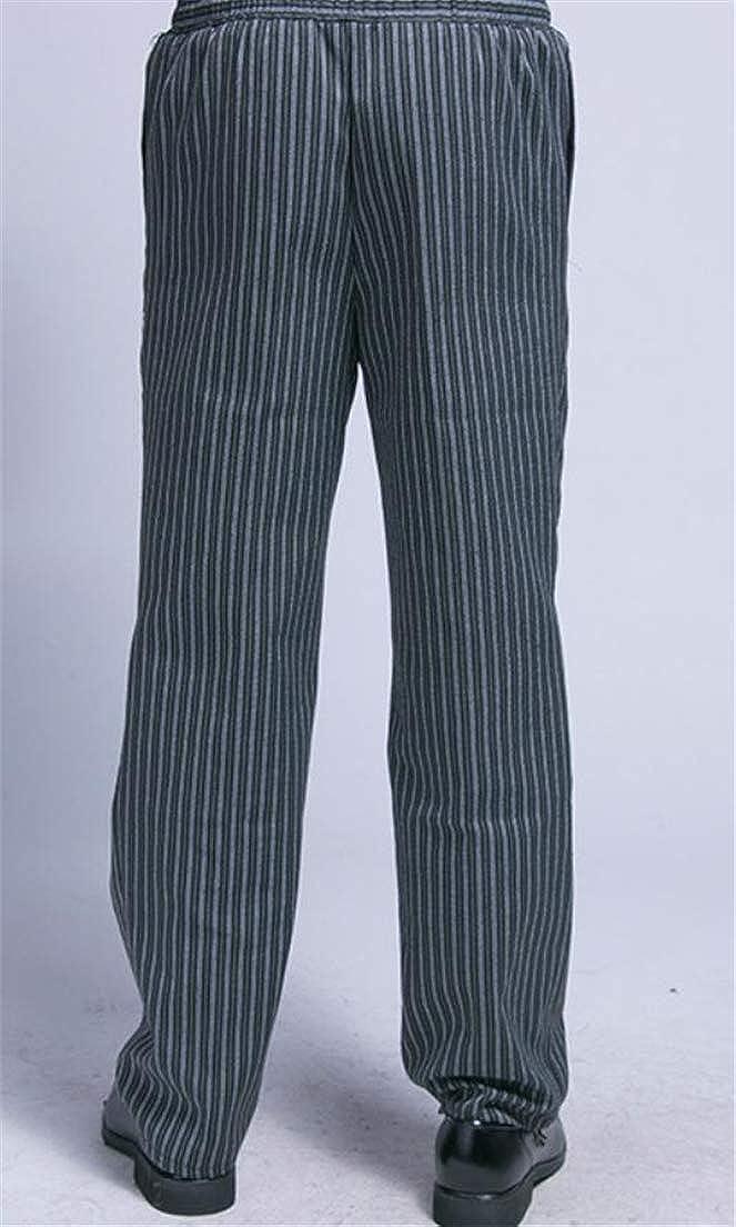 Wofupowga Mens Colorblock Vogue Trousers Elastic Waist Stripe Work to Wear Pants