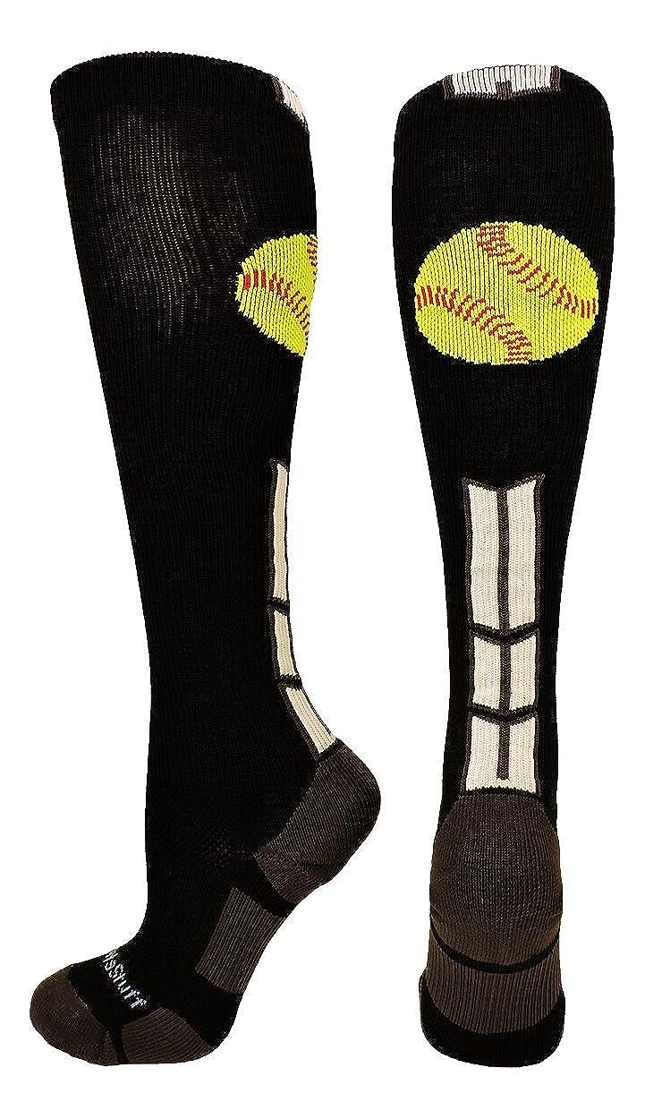 MadSportsStuff Softball Logo Over the Calf Socks (multiple colors)