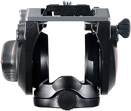 1 Leva Fissa Alluminio Nero Manfrotto MVH500AH Testa Video con Base Piatta