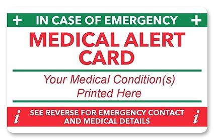Alerta Médica en caso de emergencia (I.C.E.) tarjeta: Amazon.es ...