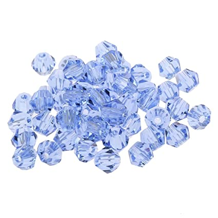 f4bb1bd792234 jennysun2010 100Pcs Light Sapphire Top Quality Czech Crystal Faceted Bicone  Beads 4mm for Bracelet Necklace Earrings Jewelry Making Crafts Design