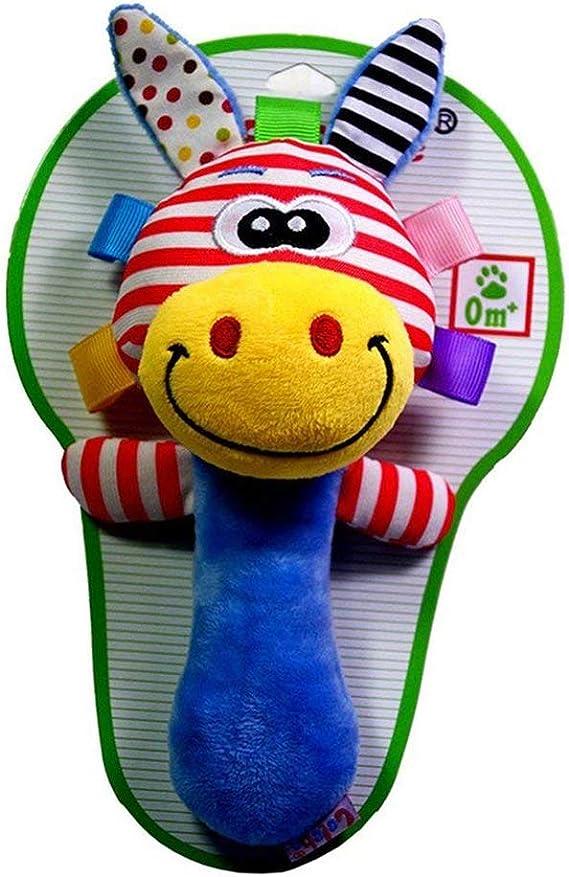mxdmai Juguetes del cabrito de la felpa del beb/é del traqueteo del Squeaker educativos para la primera mu/ñeca de Rod Animal lindo del dibujo animado musical de juguete de felpa para beb/é jirafa