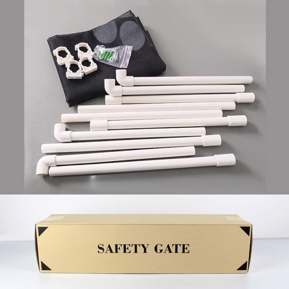Kicat/® Patte de Chien imprimant la Porte ancrant la barri/ère de s/écurit/é dassemblage Portable de Maison de Parcs de b/éb/é disolation ext/érieure 80 cm 100
