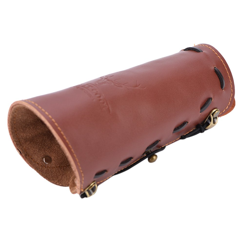 1 Pcs Archery Arm Guard Leather Sports Archery Protective Gear Traditional Archery Shooting Safe Strap