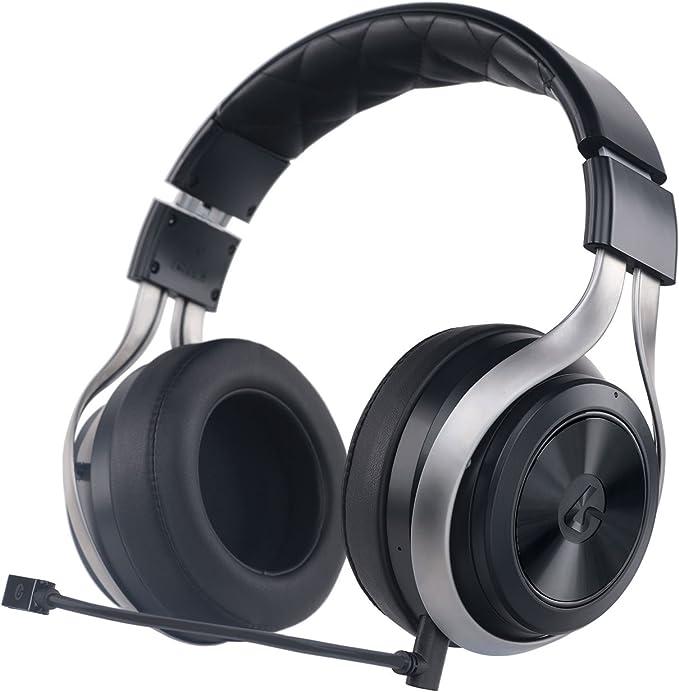 LucidSound LS30 Binaural Diadema Negro, Plata Auricular con micrófono - Auriculares con micrófono (PC/Juegos, Binaural, Diadema, Negro, Plata, Inalámbrico y alámbrico, 9,1 m)