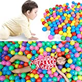 Seaskyer 5.6cm 200pcs Colorful Fun Ball Soft Plastic Ocean Ball Baby Kid Toy Swim Pit Toy