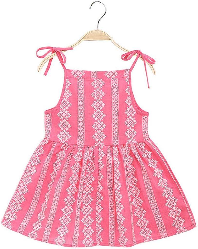 ASHOP - Vestidos niña de Princesa 2019 - Tutú Faldas de Fiesta - Flor Sólida A Rayas Vestido de Verano - 1-6 Años