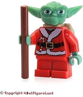 lego star wars minifigure santa advant yoda with backpack 7958