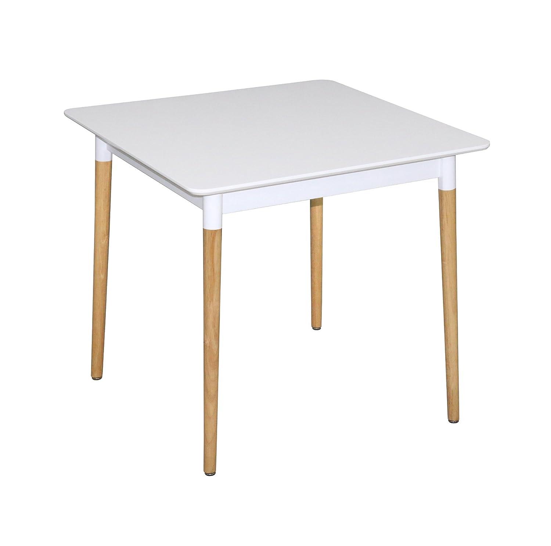 ASPECT Versa carré Table de Salle à Manger, Bois, Blanc, 80x 80x 76cm 80x 80x 76cm DT05W