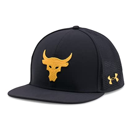 Amazon.com  Under Armour Project Rock SuperVent Snapback Hat Cap   UA The  Rock Black  Electronics bf6cdce9800