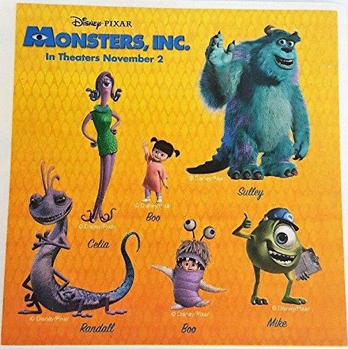 Disney Monsters Inc Promo Sticker Sheet 4.5