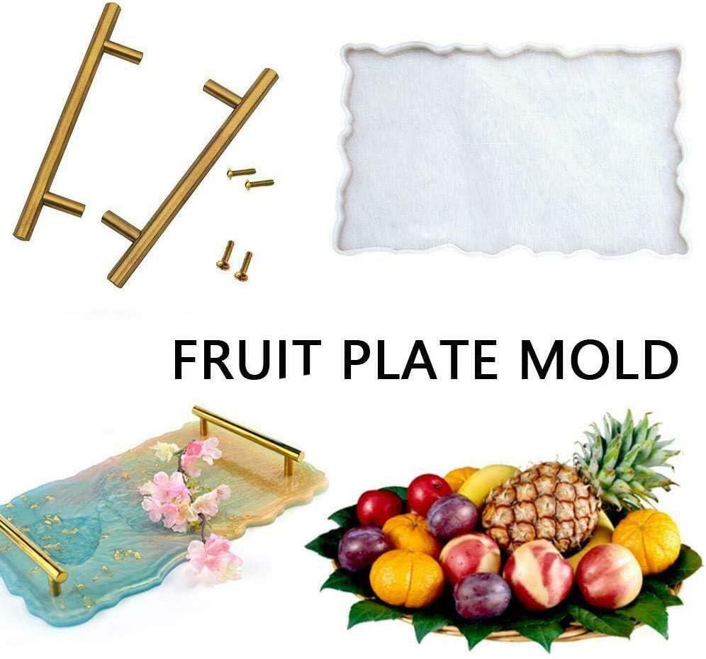 A SQYX Grand Moule dartiste de Plateau en Silicone,Moule dartiste de Plateau en Silicone,utilis/é pour Le Moule de Plateau de Fruits,Moule de Plateau de th/é,Moule de d/écoration
